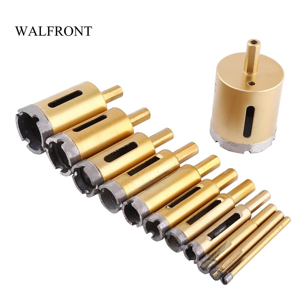 Freeshipping 6-50mm Diamond Drill Bit Core Hole Saw Cutter Woodworking Metal Drilling Power Tools Set for Tiles Marble Glass Granite