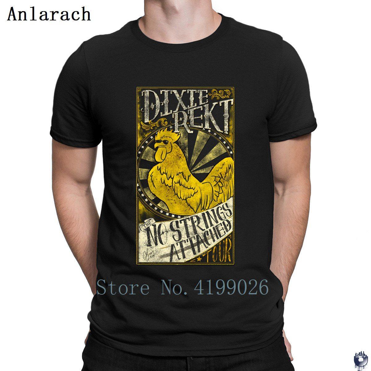DIXIE REKT camisetas vestuario personal estilo estándar verano camiseta para los hombres más el tamaño 3XL gran camiseta tapas crear