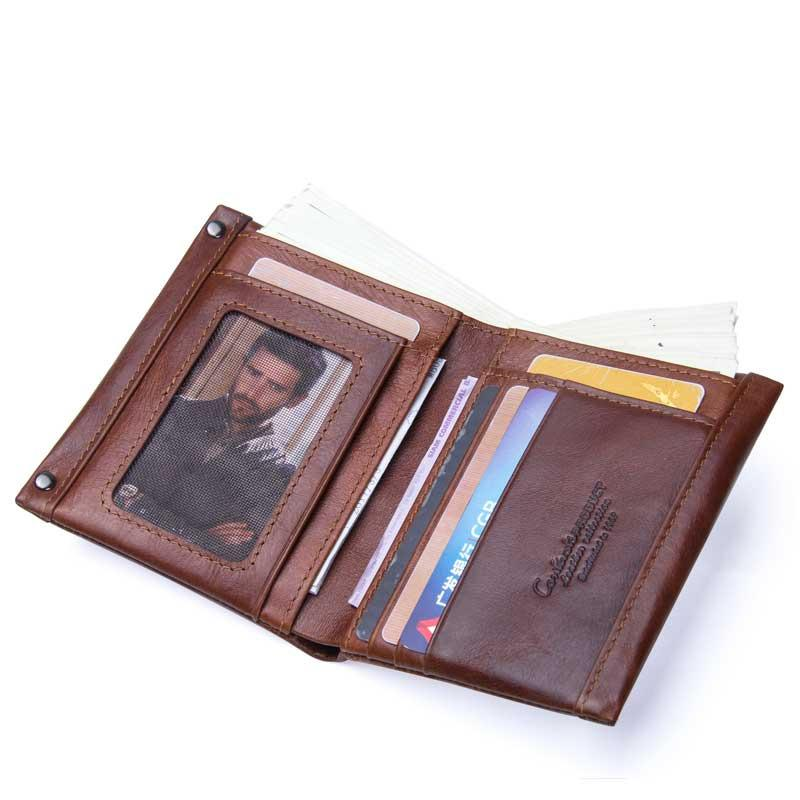 Genuine Wallet Leather Small Fashion Short Holder Clutch Mutifunction Male Designer-Mens Small With Coin Purse Card Wallet Diiin