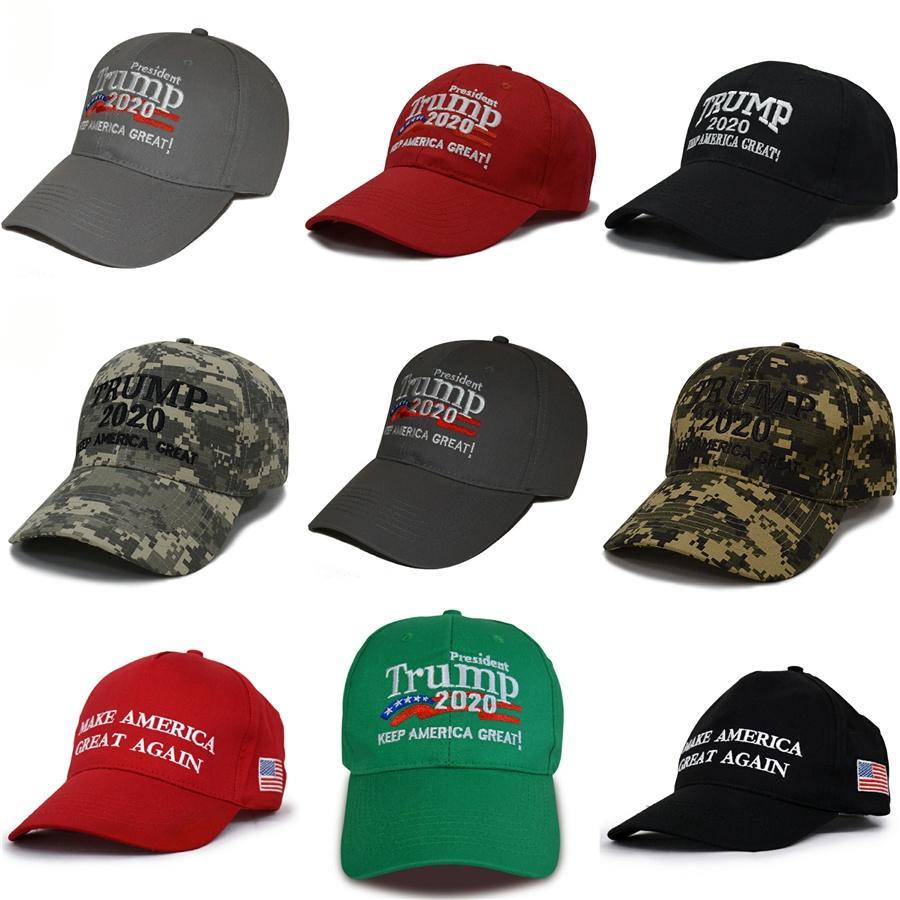 2020 Дональд Трамп Мужчины Бейсболка Make America Great Again Hat Вышивка Открытый сетки Спортивные шапки Trump Caps Регулируемое Snapbacks L1Fa # 678