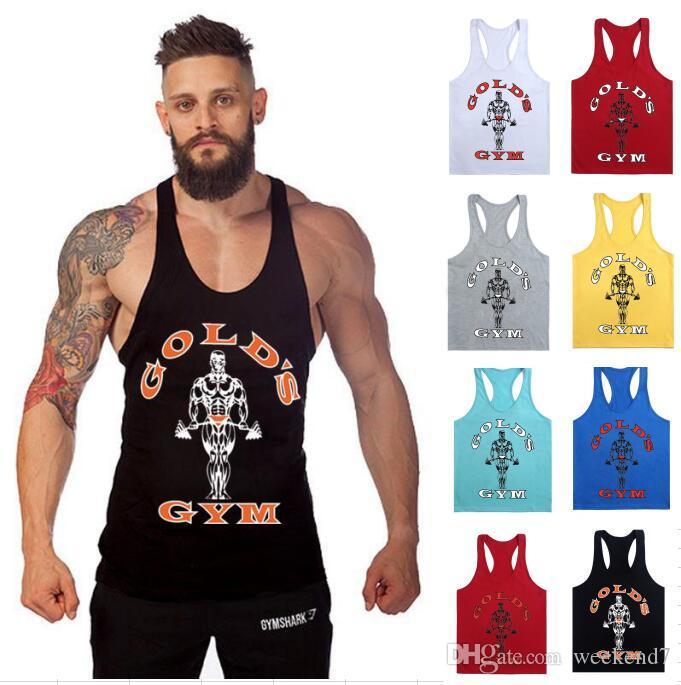 DIRUIJIE 1400 # 30Colour M-XXL Erkekler Altınları Gym Muscle Joe Stringer Tank Top Mens Yelek Vücut Crossfit Atlet