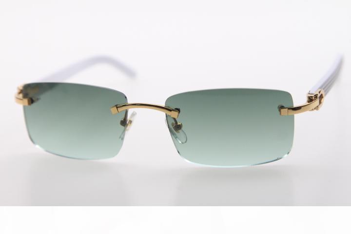 2020 Wholesale neue Randlos Weiß Waffen Sonnenbrillen Neue 8.200.757 Randlos Weinlesegläser mit Kasten HOT Unisex neue Art und Weise klassische Sonnenbrille
