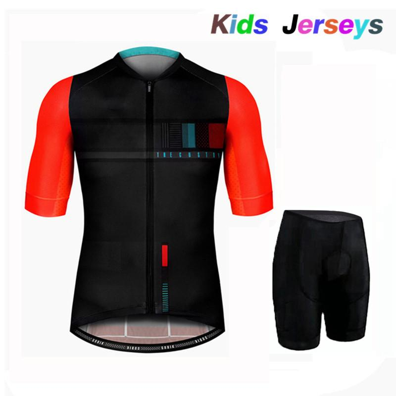 2020 New Kids Summer Breathable Cycling Clothing Children Bike Jerseys Shorts Sets Bicycle Top Ropa Ciclismo Boy Mtb Shirts Suit