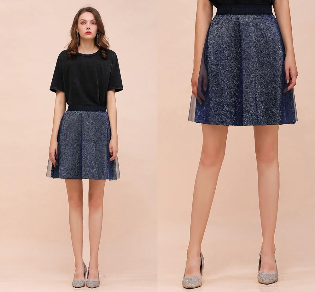 Marca Designer impressão reflexiva Mulheres Vintage Saias 2019 Summer Fashion Outono alta cintura elástica Longo Partido Saias Streetwear
