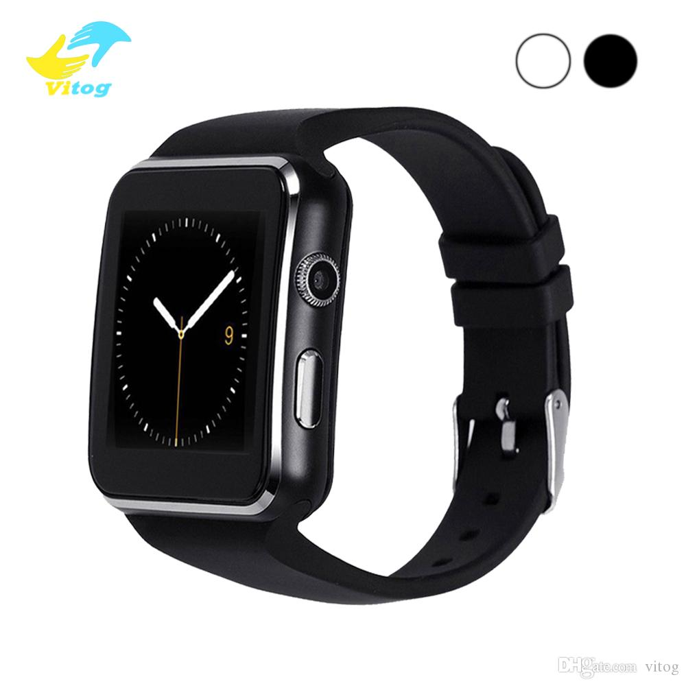 X6 bluetooth Smart Watches With Camera Touch Screen Support SIM TF Card Bluetooth Smartwatch with Retail Box