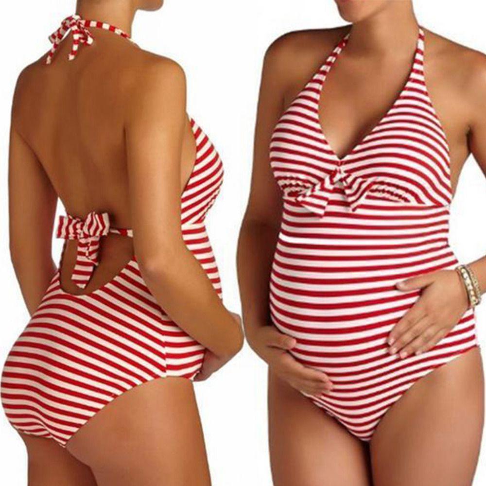 Ladies Maternity Swimsuit Swimming Costume Pregnancy Swimwear Beachwear Bikini