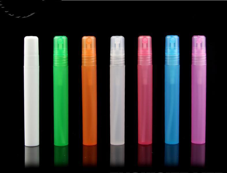 10ml di plastica di viaggio Bottiglie bottiglia di profumo spray vuote cosmetici contenitori vuoti atomizzatore Bottiglia di profumo Pen ha riempito