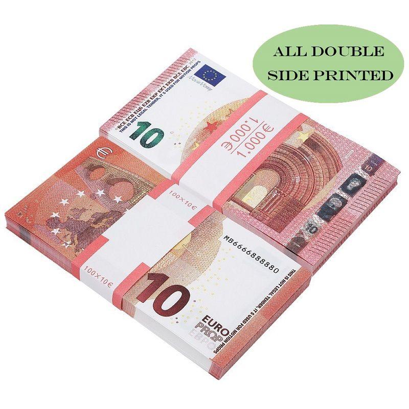 Prop Kopya Sahte Para Çocuk Öğrenme Aracı Oyuncak hologram olmadan Filmler video 5/10/20/50/100/200 Euro