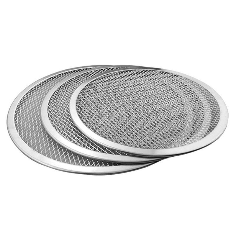 Professionale rotonda Pizza Oven Teglia Barbecue griglia antiaderente rete della maglia