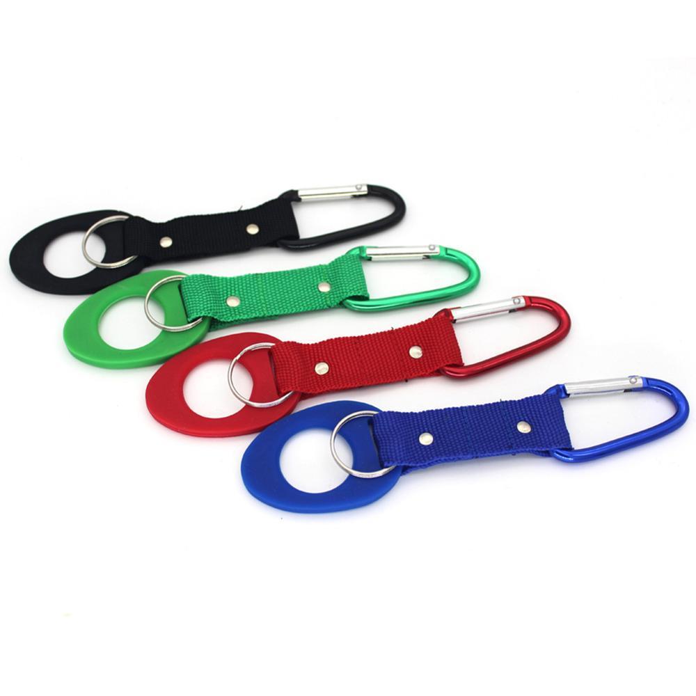 Bottiglia di acqua portatile del silicone Fibbia Holder Comoda clip D-Ring Hook bottiglia Outdoor Belt