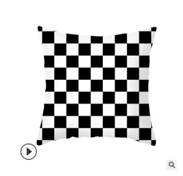 2020 Наволочка Nordic бросить подушку крышки черного и белого письмо персика кожи подушки покрытия дивана подушка крышка настроить попы дома 07