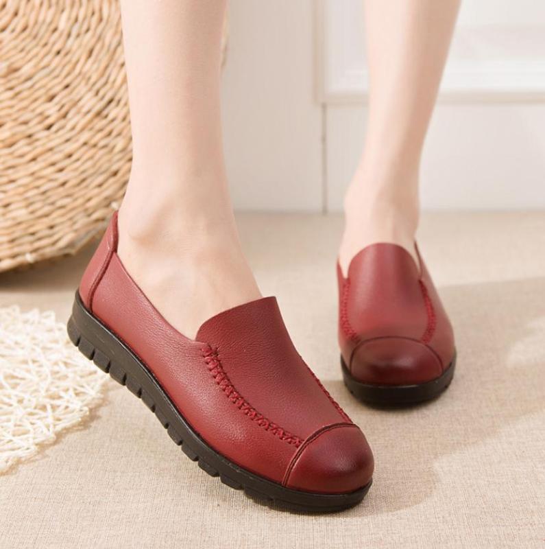 Suave cómodo de alta calidad zapatos de mujer simple transpirable antideslizante zapatos de suela suave de las mujeres zapatos planos ocasionales de las mujeres