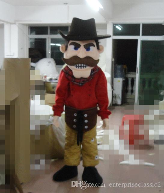 Latest high quality Captain Pirate of the Caribbean with Brown Beard Mascot Costume Holiday special clothing