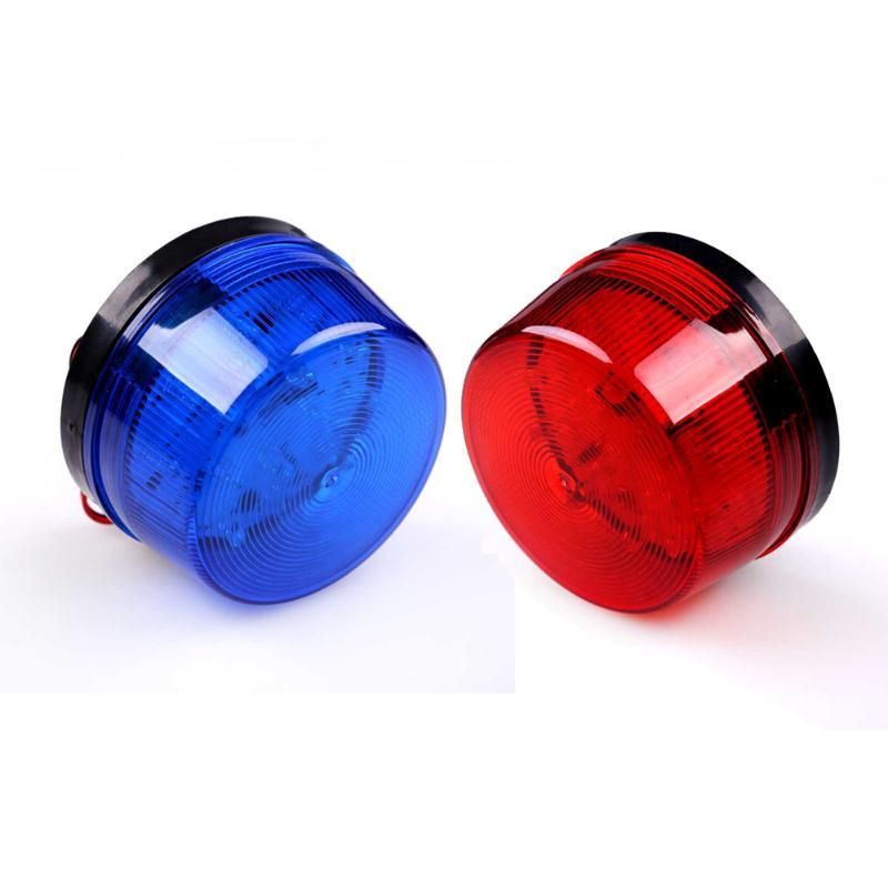 LED 12V Security Alarm Strobe Signal Warning Siren Blue Red Flashing Light