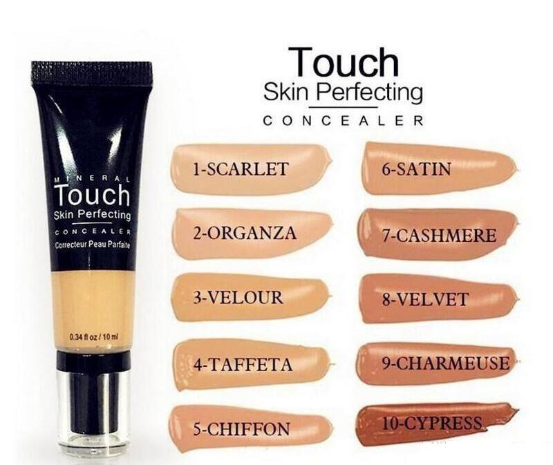 Machen Sie einzigartige Mineral Touch Haut BB Cream Perfection 10 Farben Concealer Makeup Liquid Foundation Fond de Teint 10ml