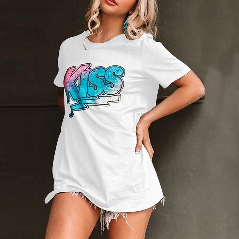 Shirt 2020 Estate T per le donne modo delle signore delle magliette con stampato casuale Streetwear Womens Tees alta qualità Abbigliamento formato di 3 colori S-2XL