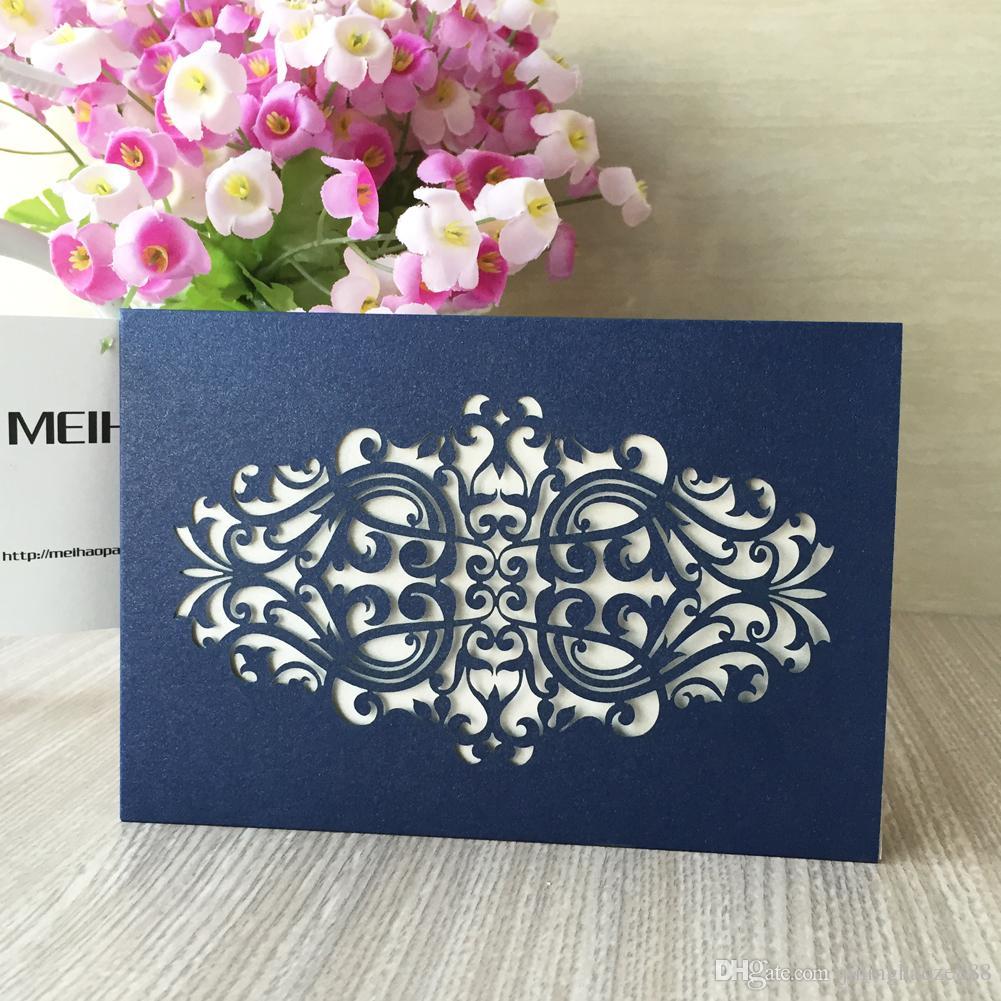 Requintado Envelope Cartão de Convite de Casamento Real Estilo Europeu Escultura Rendas Design de Aniversário Cartões de Mesa de Reunião de Negócios