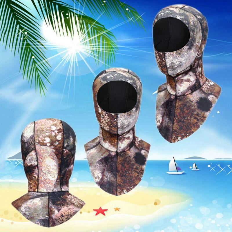 3MM الغوص هود مع الكتف صيد الأسماك بالرمح قبعة الشتاء غص السباحة الدافئة كاب التزحلق هات الغوص Cap4