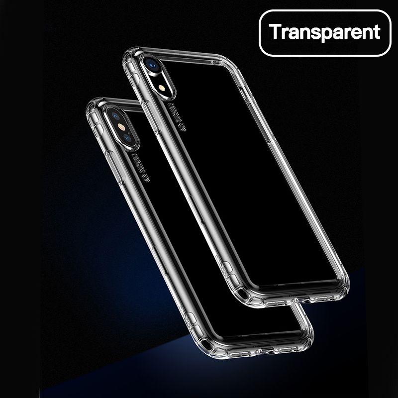 Bolsa de lujo de teléfono para el iPhone Xs Max Xr X S R Xsmax Coque suave claro TPU del silicón para iPhonex Fundas Shell