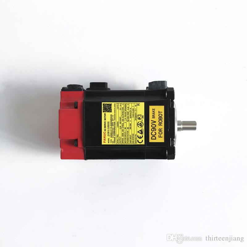 1 PCS Original FANUC Servo Motor A06B-0115-B855 # 0048 Frete Grátis Expedido A06B0115B855004 Usado Em Bom Estado Teste OK