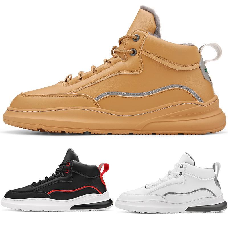 2020 type3 branco vermelho ouro cinzento preto laço de couro ocasional impermeável algodão menino dos homens Running Shoes formadores baixos corte Designer Sports Sneaker