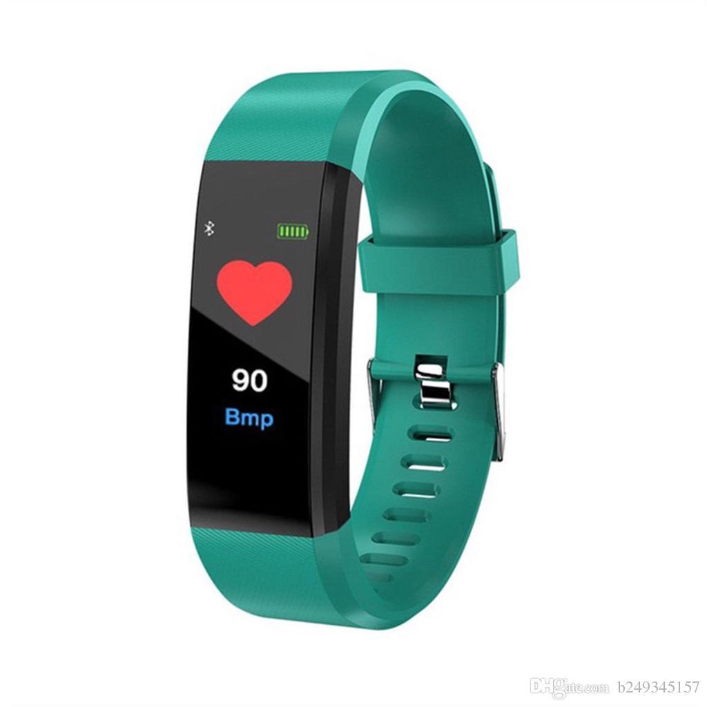 115 Plus smart bracelet waterproof bracelet fitness watch pedometer smart heart rate detection SmartWatch smart watch