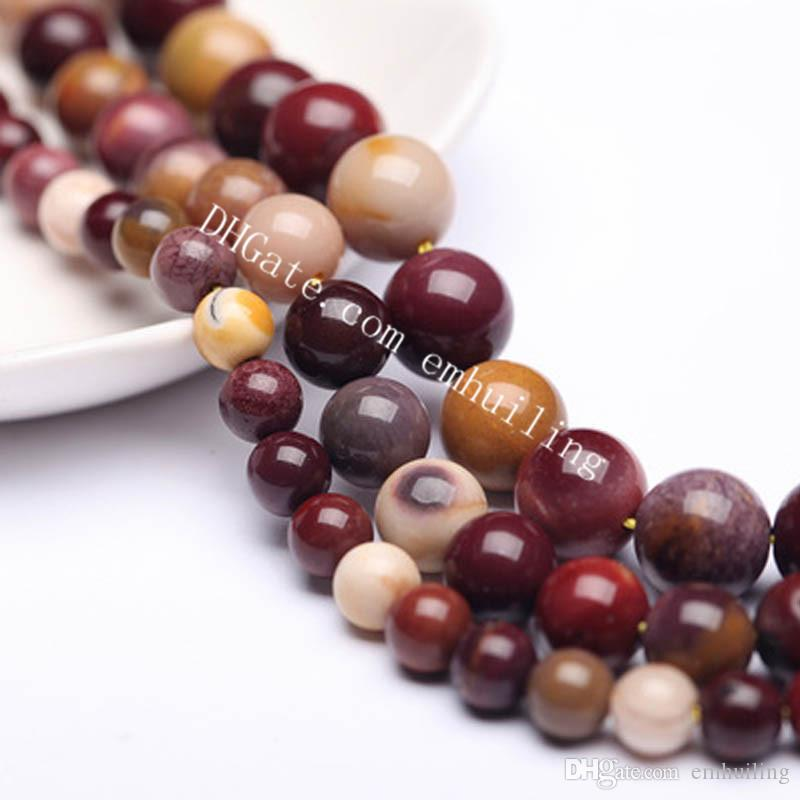 10 Full Strands Natural Multicolor Mookaite Jasper Gemstone Beads Nice Smooth Round Stone Beads Findings Accessories 4/6/8/10/12mm Wholesale