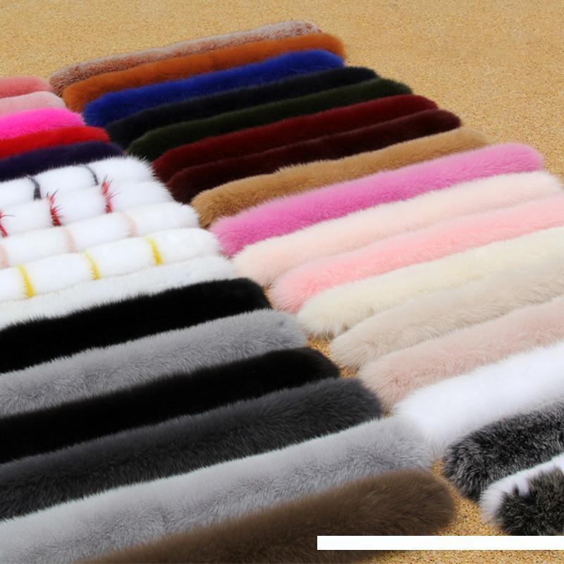 Mulheres Winter 100% real Fox Fur colarinho Scarf Fur Coat Collar Luxo Fox Fur cachecóis Genuine Quente Neck aquecedores Xaile Y200103