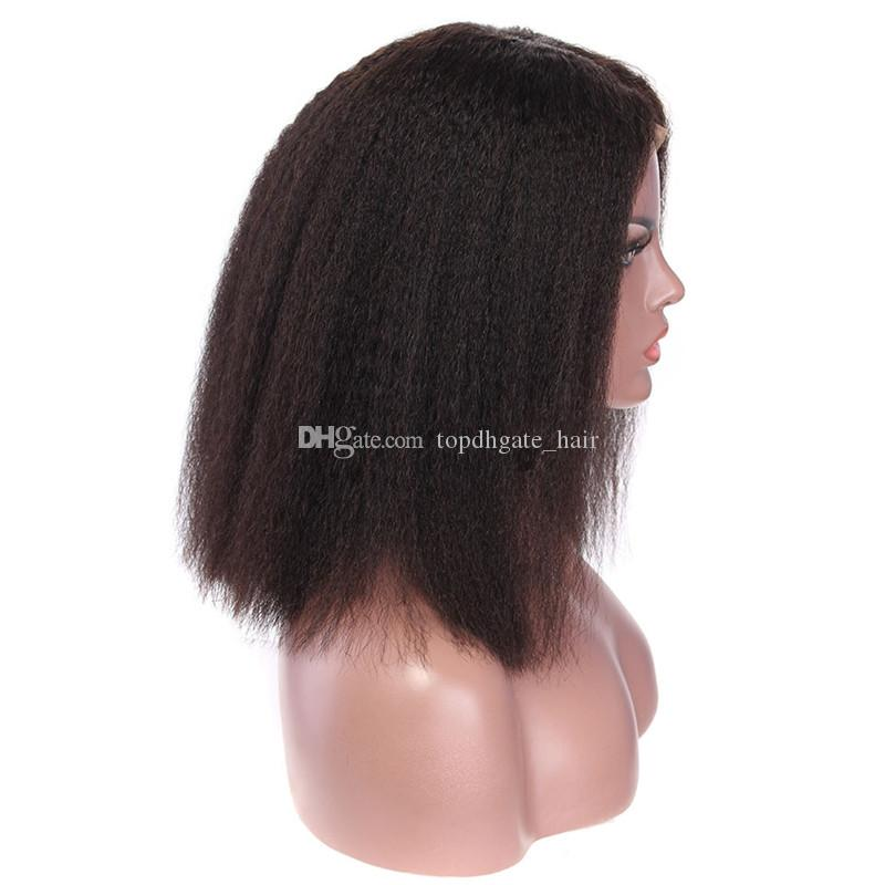 Short Bob Brazilian lace front Wig and full lace human hair wig for with baby hair for black women free shipping unprocessed wig