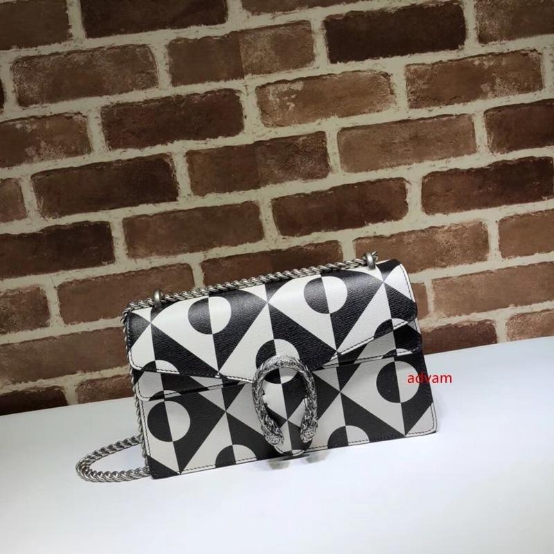 2020 Top Quality Marca projeto letra de gravação Mosaico padrão de ombro cadeia saco de Mulheres de couro genuíno 400.249 Crossbody Bag