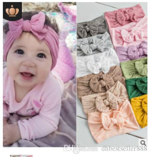 Bébé Accessoires cheveux Super Soft Nylon Bow Accessoires enfants Belle Princesse Hair Band Ins Hot vente