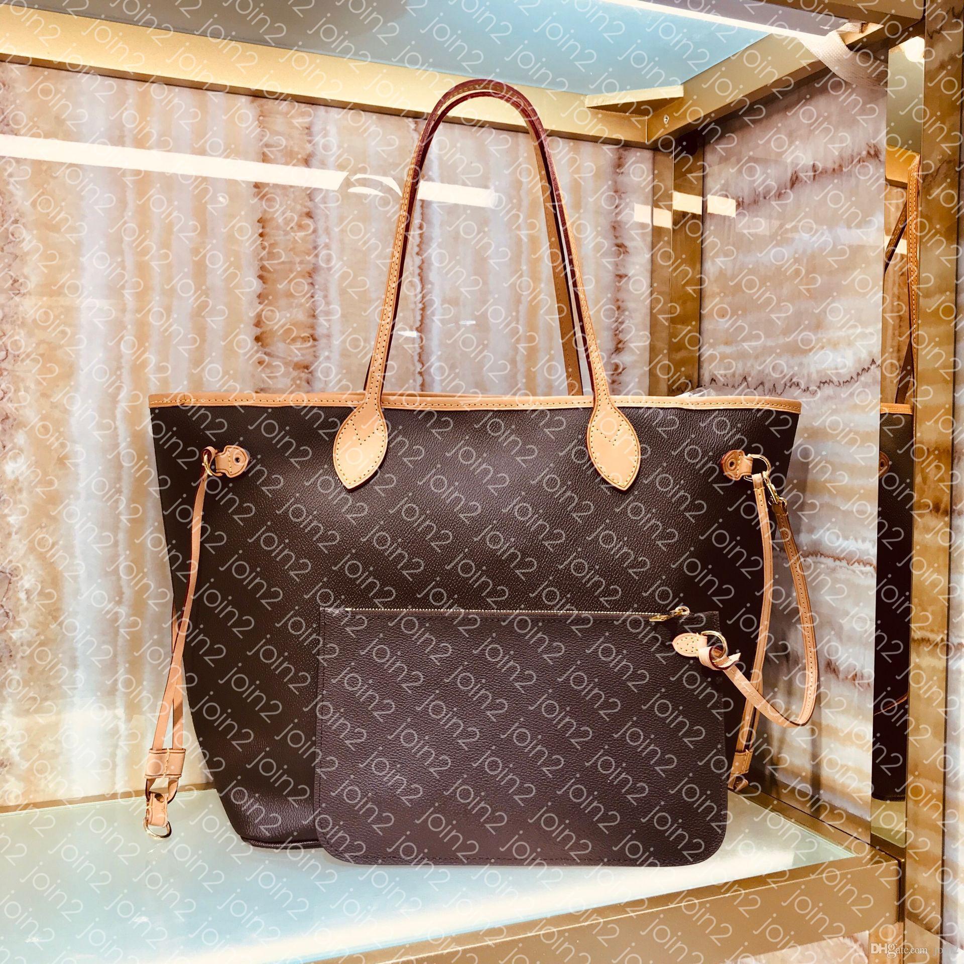 Diseñador M40990 NF MM GM famosa de la manera ocasional de las compras del bebé bolsa de playa al aire libre del hombro del totalizador del bolso del embrague bolsa lienzo de piel genuina PM