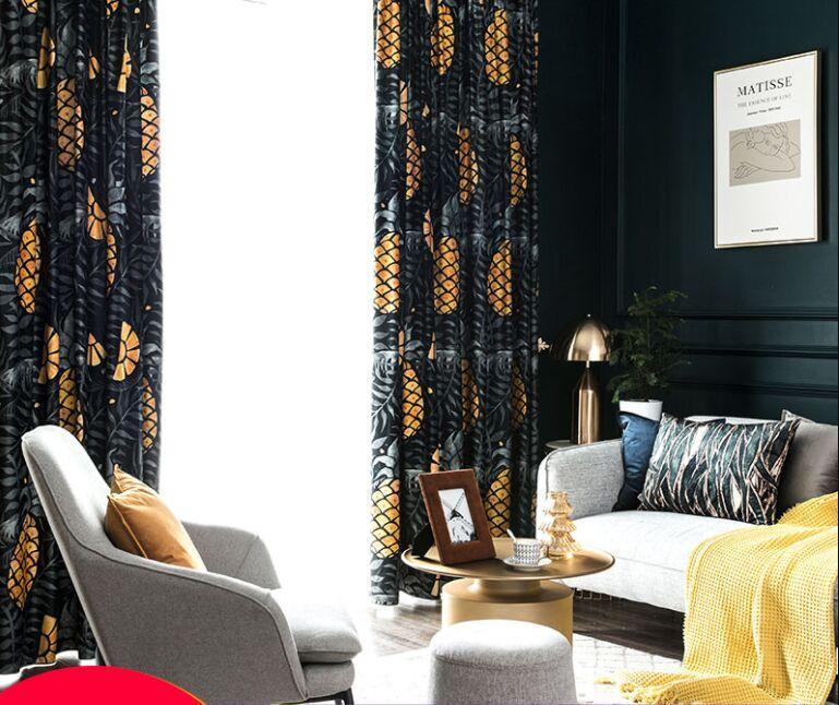 Amerikanischer Retro-Licht Luxus Vorhang Shading Tuch benutzerdefinierten neue chinesische Schlafzimmer Wohnzimmer Samtvorhang Isolierung