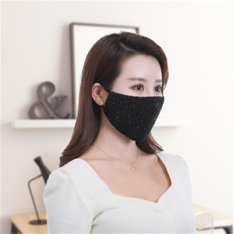 Hot Sale Sequin Respirators Respirable Unisex Color Face Mouth Masks Keep Warm Reuse Popular Sell 6 5hy H1