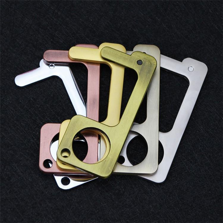 Moda 10 stile sicurezza Touchless apriporta Stylus chiave gancio metallico Hands Free Opener maniglia di portello Ascensore strumenti portachiavi T9I00367