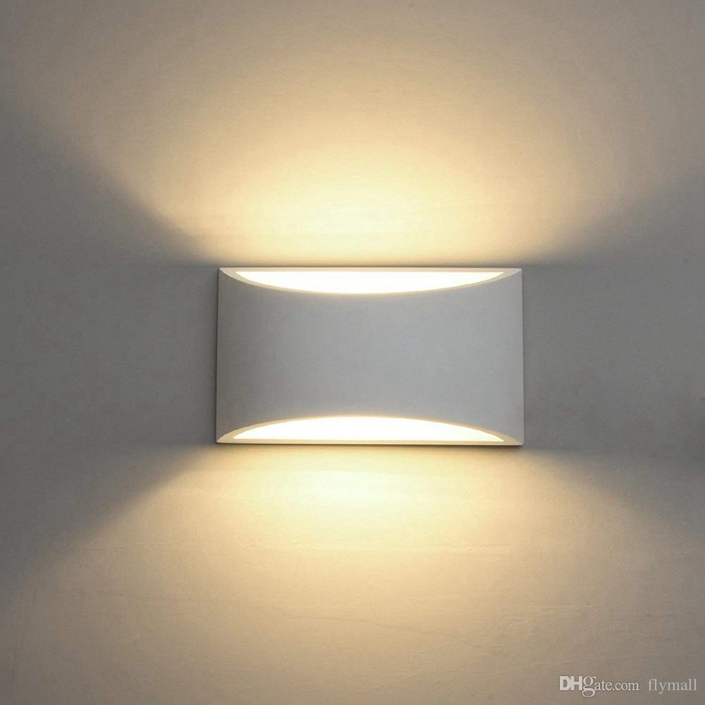 2019 Modern Led Wall Sconce Lighting Fixture Lamps 7w Up And Down Led Wall Lights Indoor Plaster Wall Lamps For Living Room Bedroom Hallway From