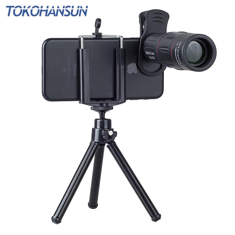 TOKOHANSUN Telefon Universal 18X Telescopio Zoom Telescopio Lente per cellulari Lente 18X per iPhone Xiaomi Huawei Smartphones