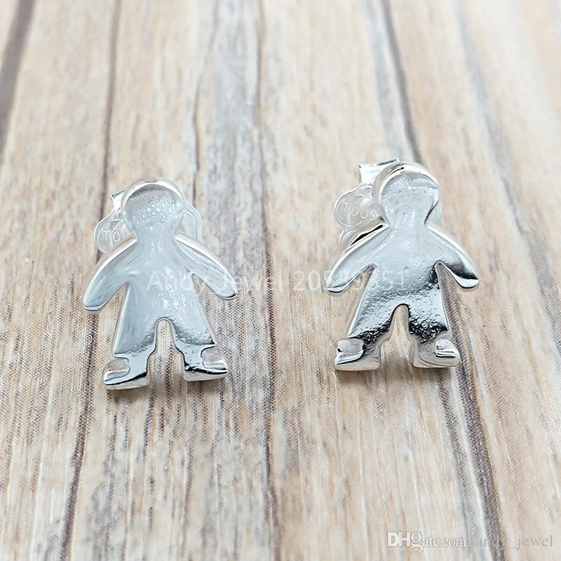 Orecchini in argento sterling 925 Orecchini in argento Sterling Sterling Bambole d'argento Adatto all'orecchini di gioielli europeo Regalo 915900015