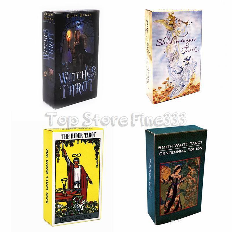 5 Styles Tarots Sorcière Rider Smith Waite Shadowscapes sauvage Tarot Conseil cartes de jeu avec Colorful Box English version