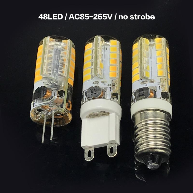 BRELONG 48 LEDs 실내 수정 같은 샹들리에를위한 28의 LEDs 2835 SMD 스트로보 스코프 실리콘 램프 G9 / G4 / E14 / AC85-265V