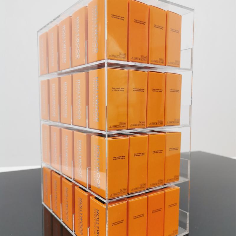 Caja de almacenamiento sin visualización Hollywood 20 colores Freeshipping Color Contactos Caja del titular