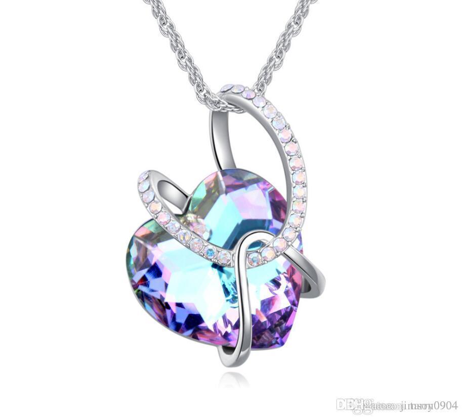 fashion Woman jewelry Originality Pendant Swarovski Elemental Crystal Necklace Spiritual Guardian Design section Twining geometry Ornaments