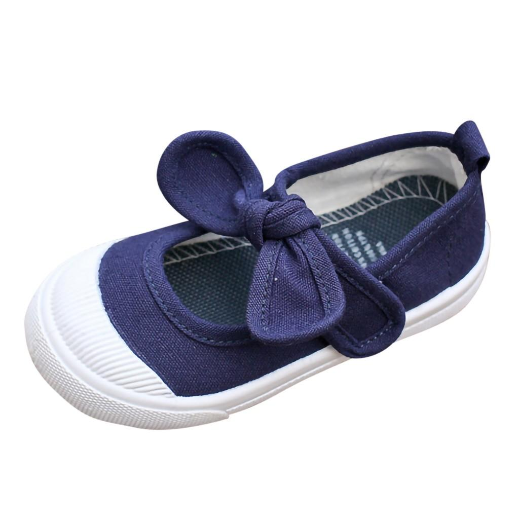 Cute Spring Toddler Girls Flats Baby Princess Bow-knot Casual shoes Size 5-11