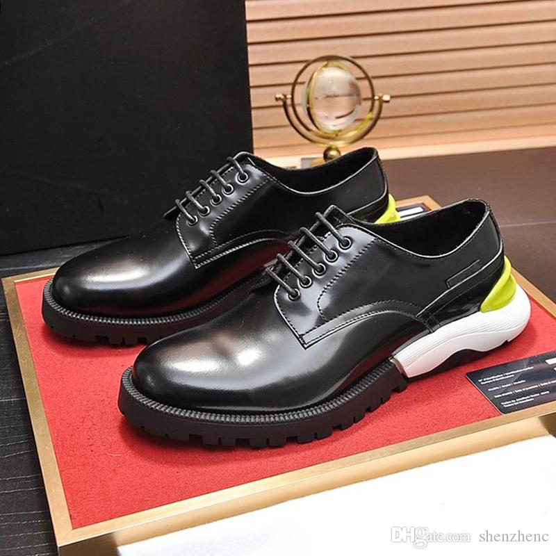 High Quality Derby Shoes Mens Shoes Lightweight Drop Ship Luxury For Male Wedding Formal Flats Lacing Party Breathable Business Dress Shoes