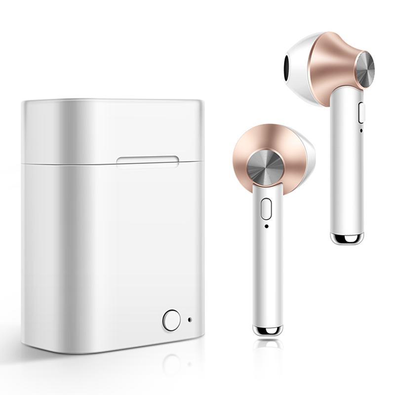 التوائم اللاسلكية سماعات الأذن D012 بلوتوث 5.0 TWS سماعة ستيريو سماعات مزدوجة مع حالة صندوق الشاحن المغناطيسي للهاتف المحمول