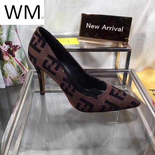 New Fashion Brown apontou Salto Alto Mulheres Salto Alto sandálias mulas Slides Bombas Shoes Sneakers Dress Shoes