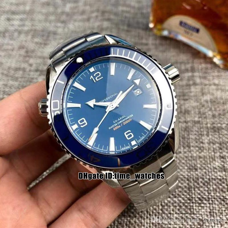 NEW Planet Ocean 600m Co-Axial 8900 Automatic Mens Watch 215.30.44.21.03.001 45mm blue dial steel hand Gents sport Watches