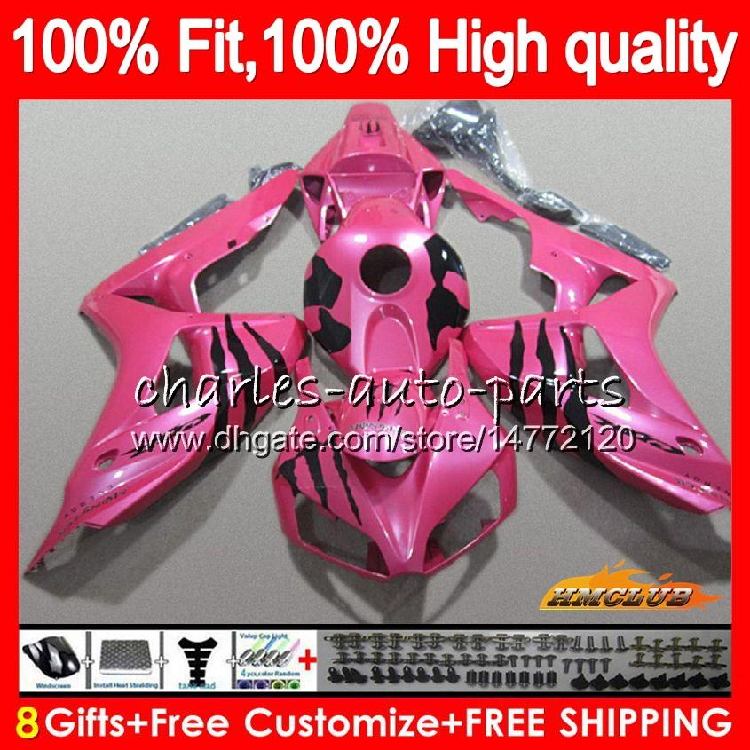 100% Fit Spritze für Honda CBR 1000RR 1000CC 06 07 Körper 78NO.100 CBR 1000 RR glänzend rosa CBR1000 RR CBR1000RR 06 07 2006 2007 OEM Verkleidungs