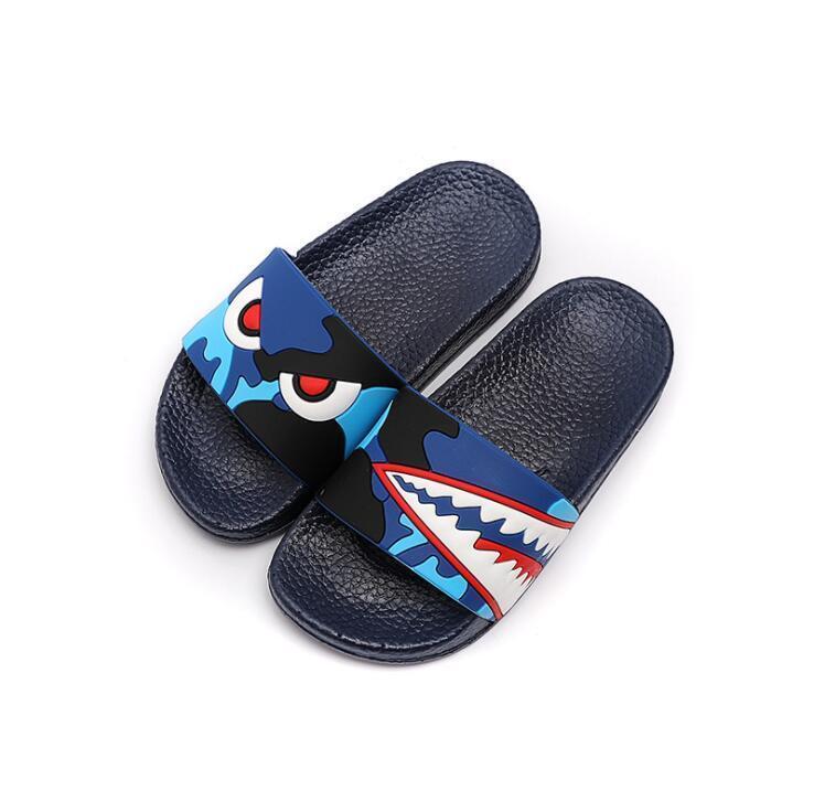 귀여운 상어 동물 샌들 비치 플립 퍼 여름 위장 커플 슬리퍼 남성 슬라이드 실내 욕실 홈 신발