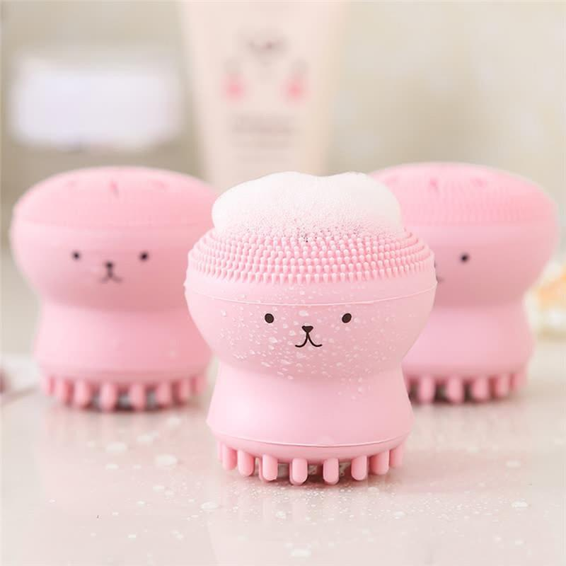 Whole Sale Lovely Cute Animal Small Octopus Shape Silicone Facial